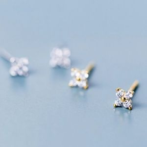 Jewelry - 18k Star Flower Cluster Studs small